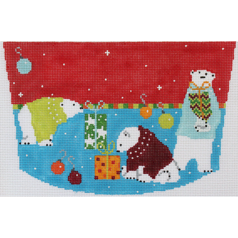 Polar Bears Stocking topper by Pippin Studios