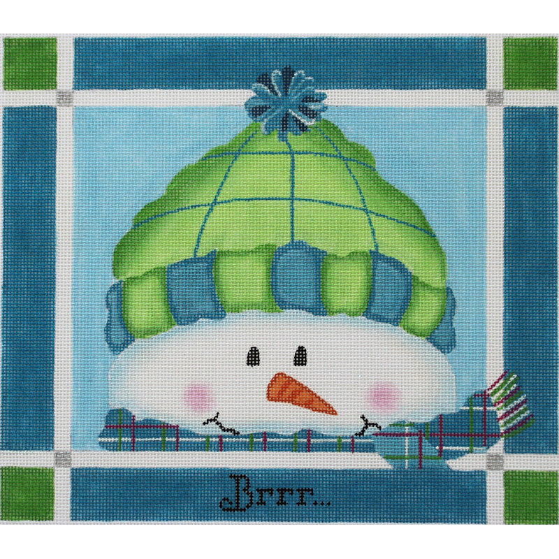 Brrr Snowman by Pepperberry Designs with stitch guide*