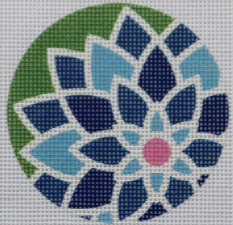 Blue Graphic flower by Pepperberry Designs