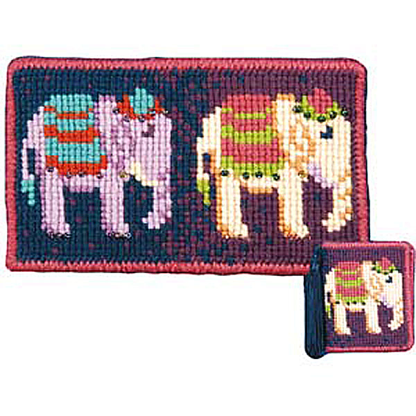Elephants Case Needlepoint Kit