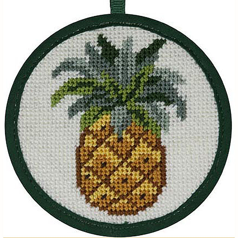 Needlepoint Christmas Ornament Kit Pineapple