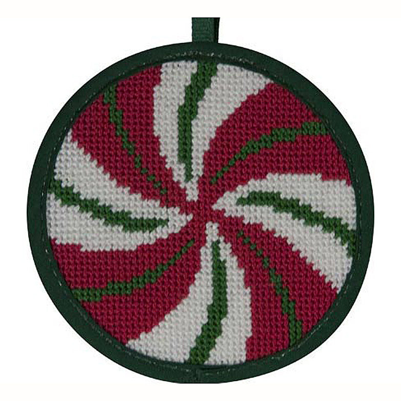 Needlepoint Christmas Ornament Kit Peppermint Swirl