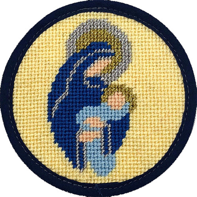 Needlepoint Christmas Ornament Madonna & Child