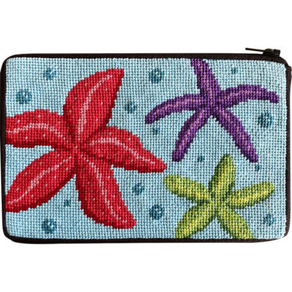 Stitch & Zip Needlepoint Purse Star Fish