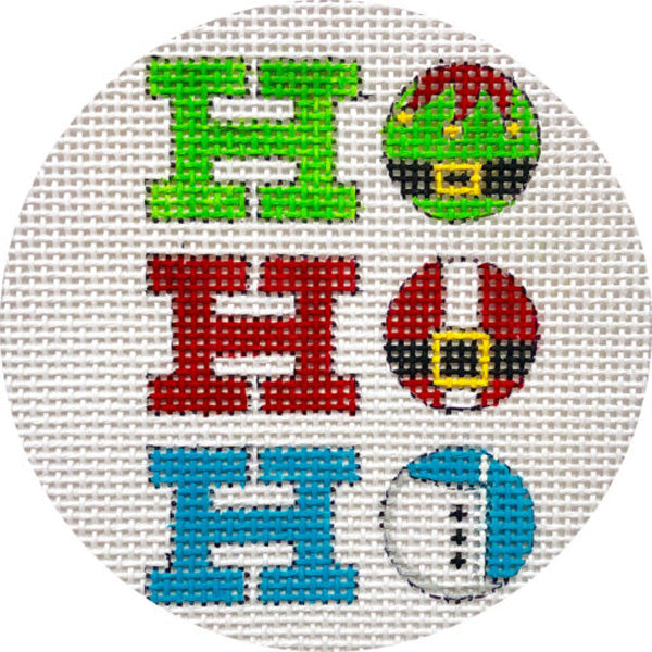 HoHoHo needlepoint ornament