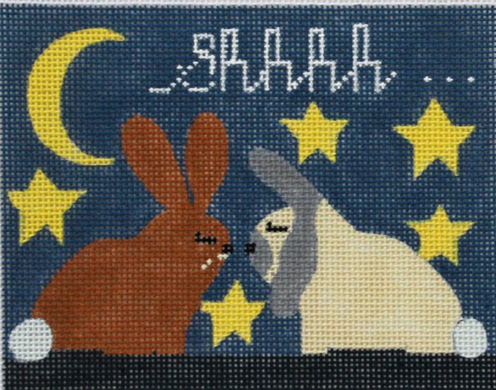 Baby Sleeping needlepoint canvas by Melissa Prince