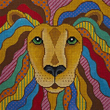 JP Needlepoint Leo the Lionhearted - Canvas Only