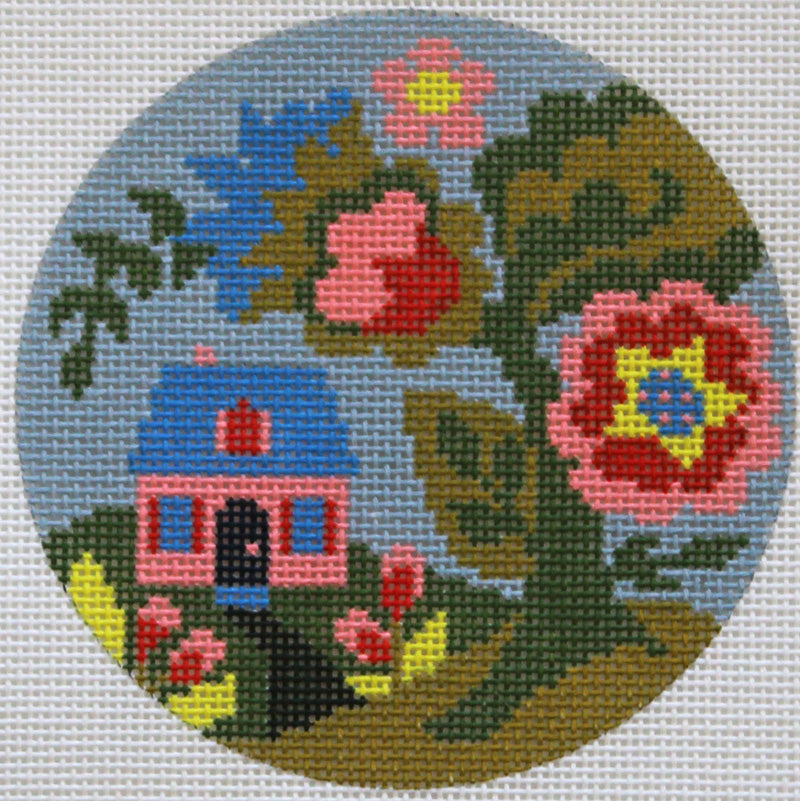Jacobean Home Needlepoint Ornament