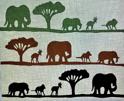 African Safari Needlepoint - Canvas Only