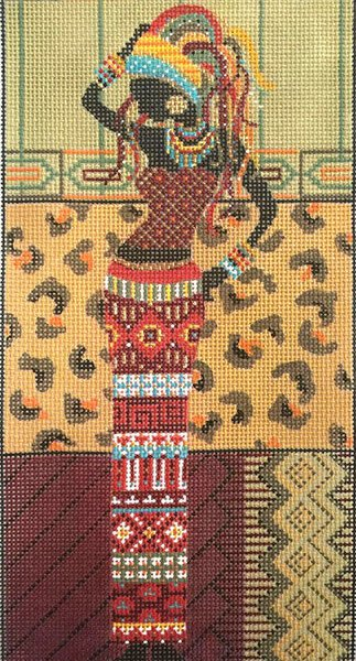 African Woman in Red needlepoint by Alice Peterson AP2885