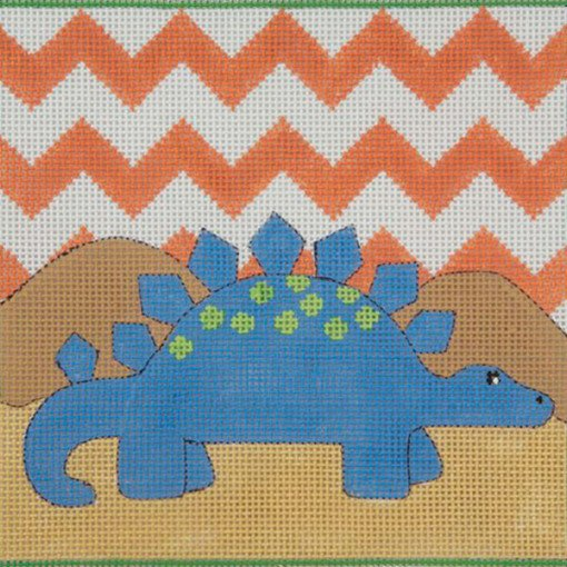 Blue Stegasaurus Needlepoint - Canvas Only