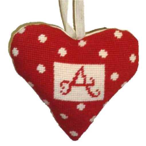 Needlepoint Ornament Kit Heart Alphabet