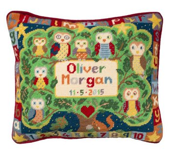 Alphabet Owls Needlepoint Kit