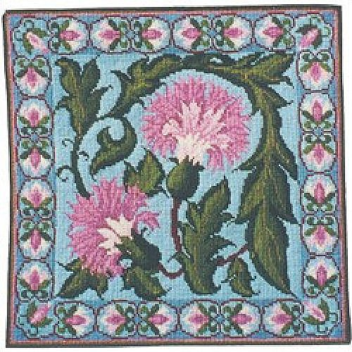 Blue Carnation Needlepoint Kit