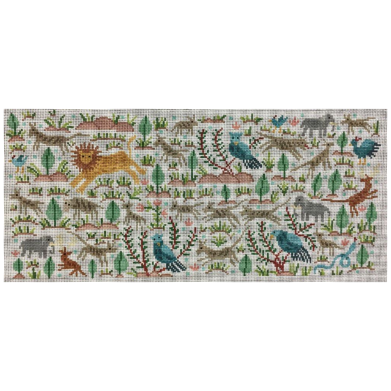 Animal Rug needlepoint by The Meredith Collection.