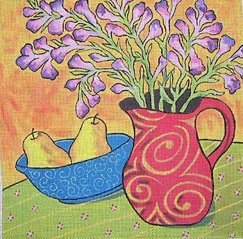 Annie-Catherine Needlepoint Yellow Pears - Canvas Only