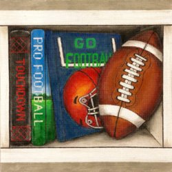 Football book nook - Canvas Only