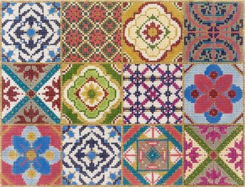 12 Square Patchwork needlepoint - Canvas Only