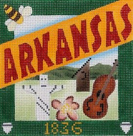 Arkansas Needlepoint - Canvas Only