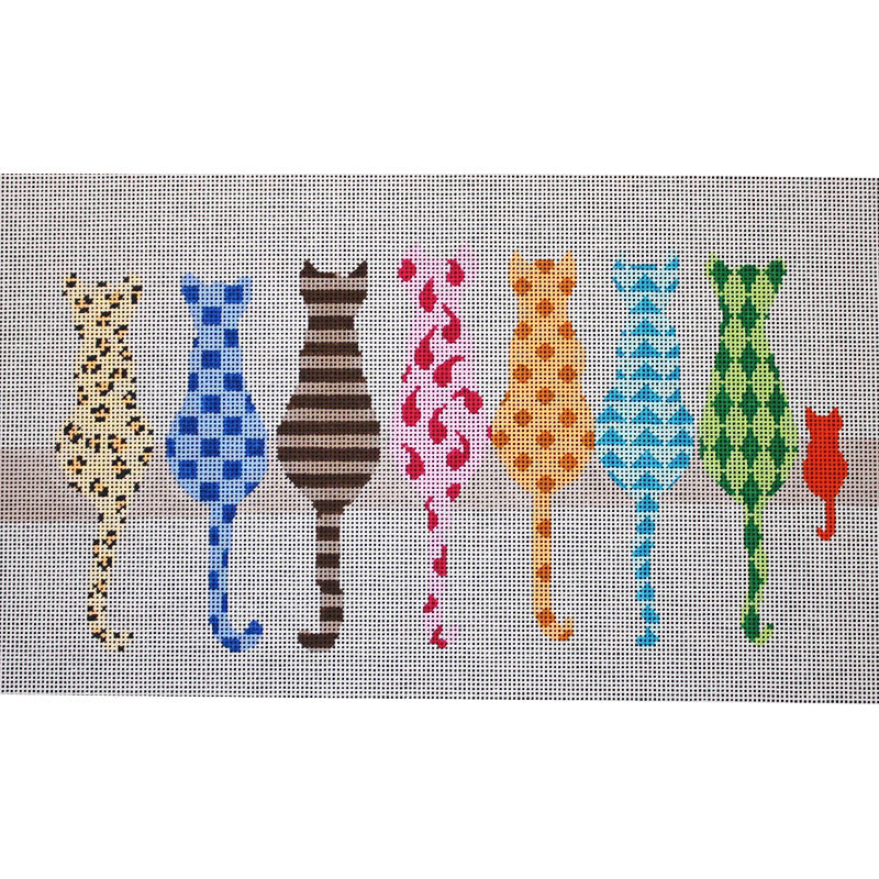 Cat Party Needlepoint