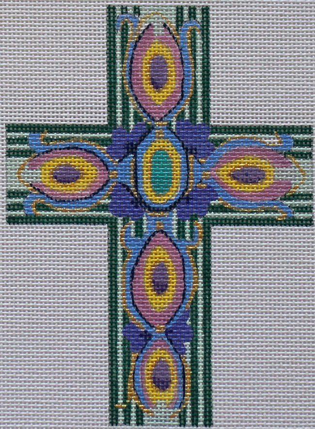 Cross: Peacock feathers - Canvas Only