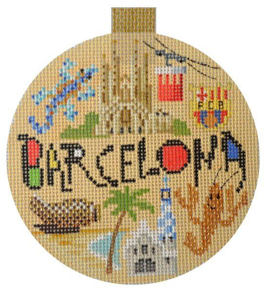 Barcelona Needlepoint Ornament - Canvas Only