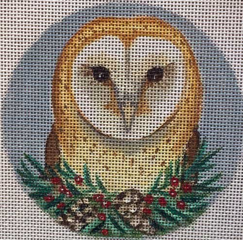 Needlepoint  Ornament Barn Owl - Canvas Only