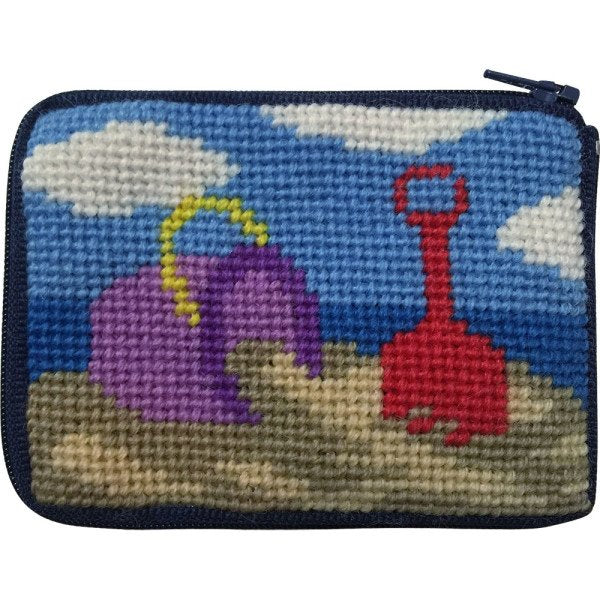 Beginner Needlepoint Kit Coin Purse Beach