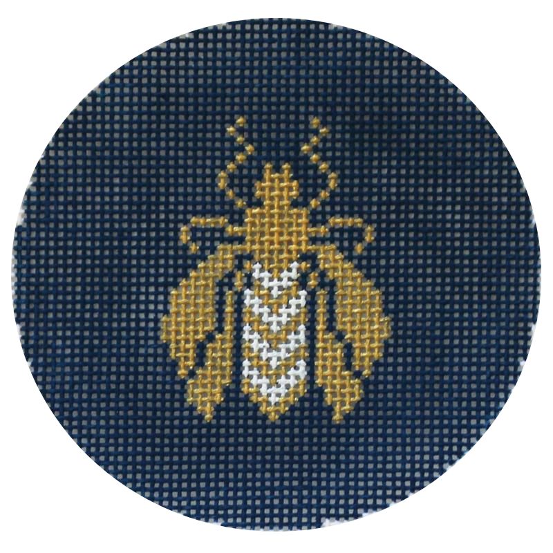 Bee Ornament on Navy