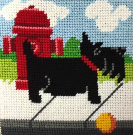 Beginner Needlepoint Kits Scottie Dog