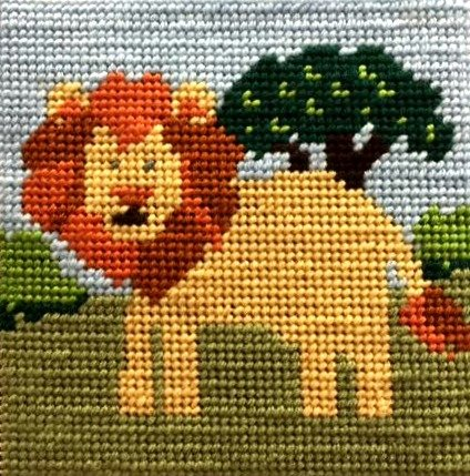 Beginner Needlepoint Kits Lion