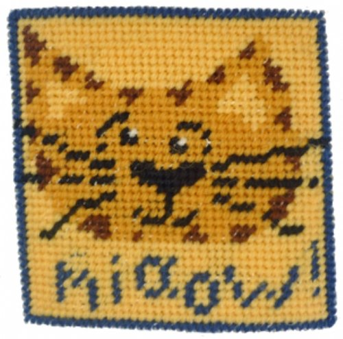 Kids Needlepoint Kit Miaow!