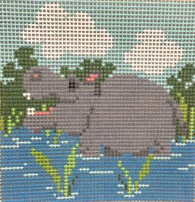 Beginner Needlepoint Kits Hippo