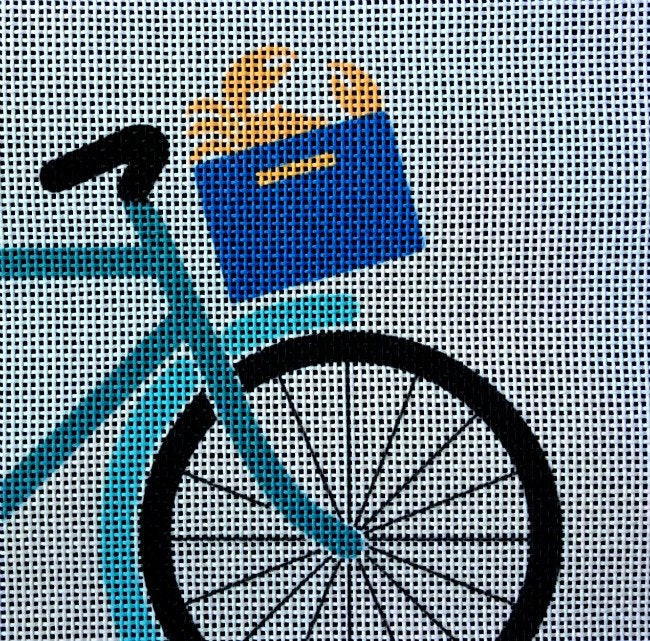 Bike & Basket Easy Needlepoint - Canvas Only