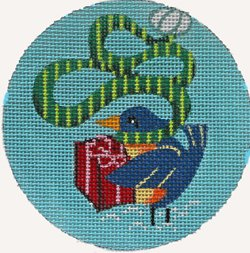 Bird's gift ornament - Canvas Only