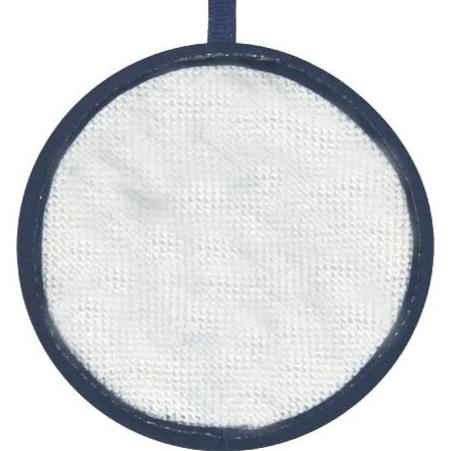 Blank Needlepoint Ornaments - Set of 3 - All blue