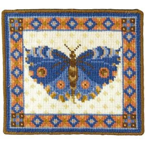 Blue Butterfly Needlepoint Kit