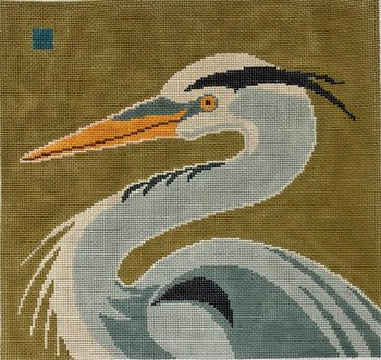 Great Blue Heron by Cindy Lindgren - Canvas Only