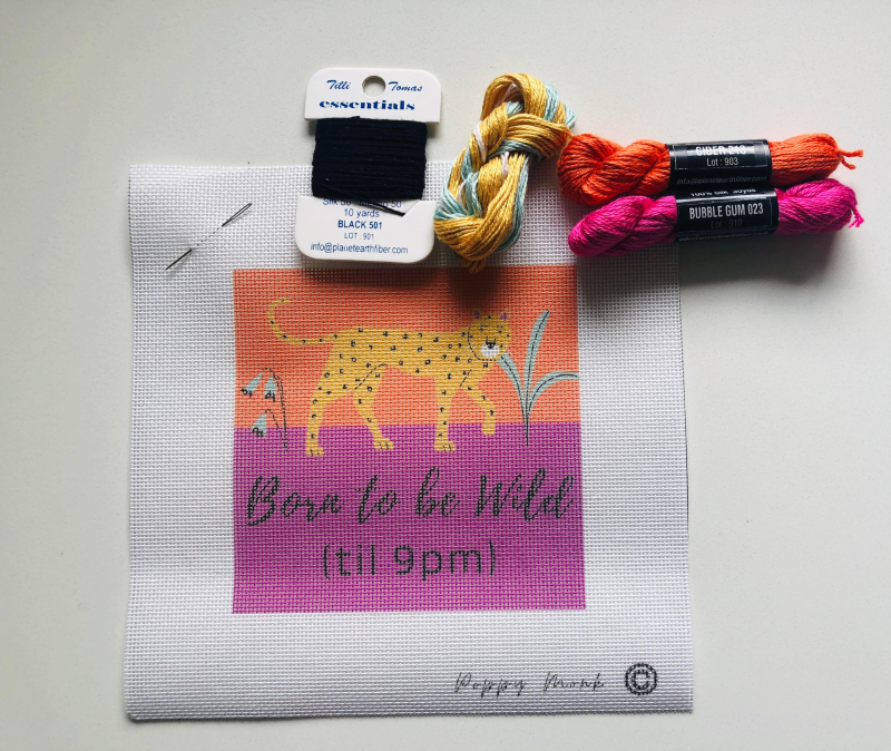 Born To Be Wild Small Needlepoint Kit
