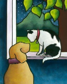 Cat and Dog - Canvas Only