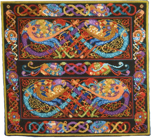 Celtic Peacocks Wallhanging<BR>Needlepoint Kit