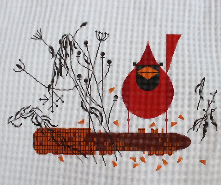 Cardinal on the Corn - Canvas Only