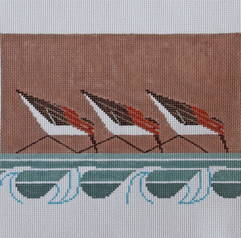 Charley Harper Needlepoint Sanderlings - Canvas Only