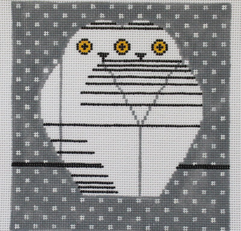 Charley Harper Needlepoint Twowls - Canvas Only