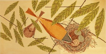 Vigilant Vireos Charlie Harper Needlepoint - Canvas Only