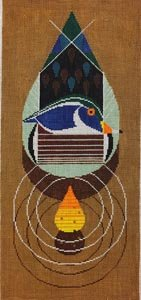 Charley Harper needlepoint Wood Duck - Canvas Only
