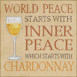 World Peace Starts With Chardonnay - Canvas Only