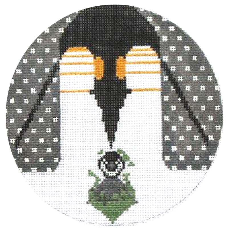 Charley Harper Needlepoint Brrrrrrthday Needlepoint Ornament