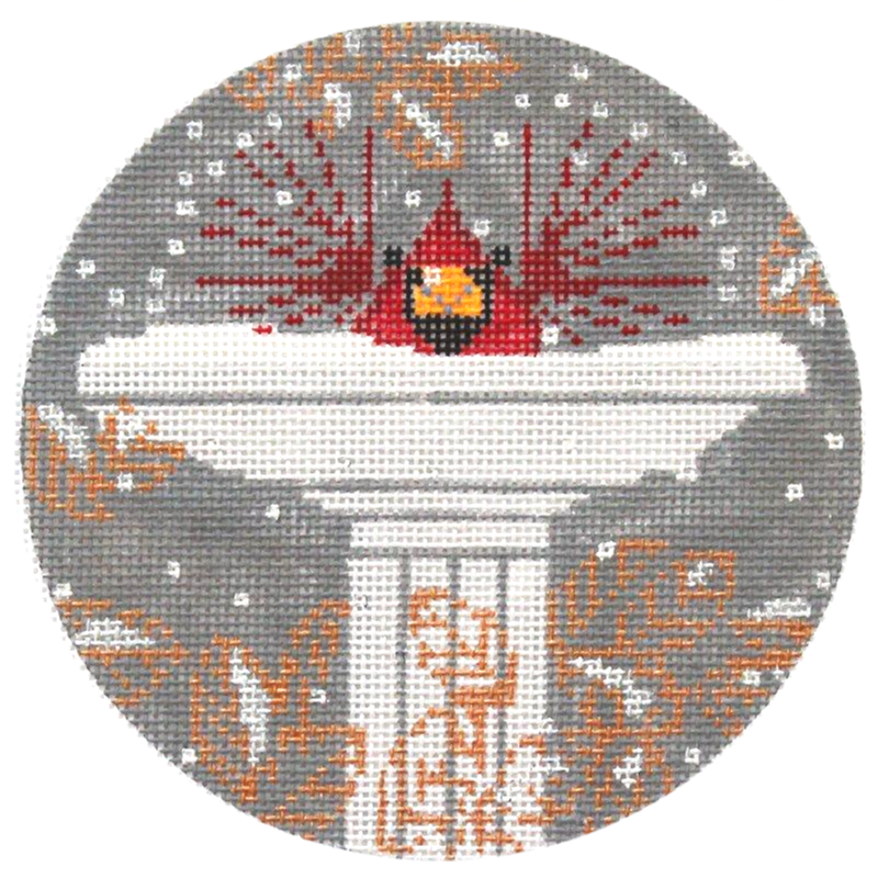 Charley Harper Brrrd Bath Needlepoint Ornament