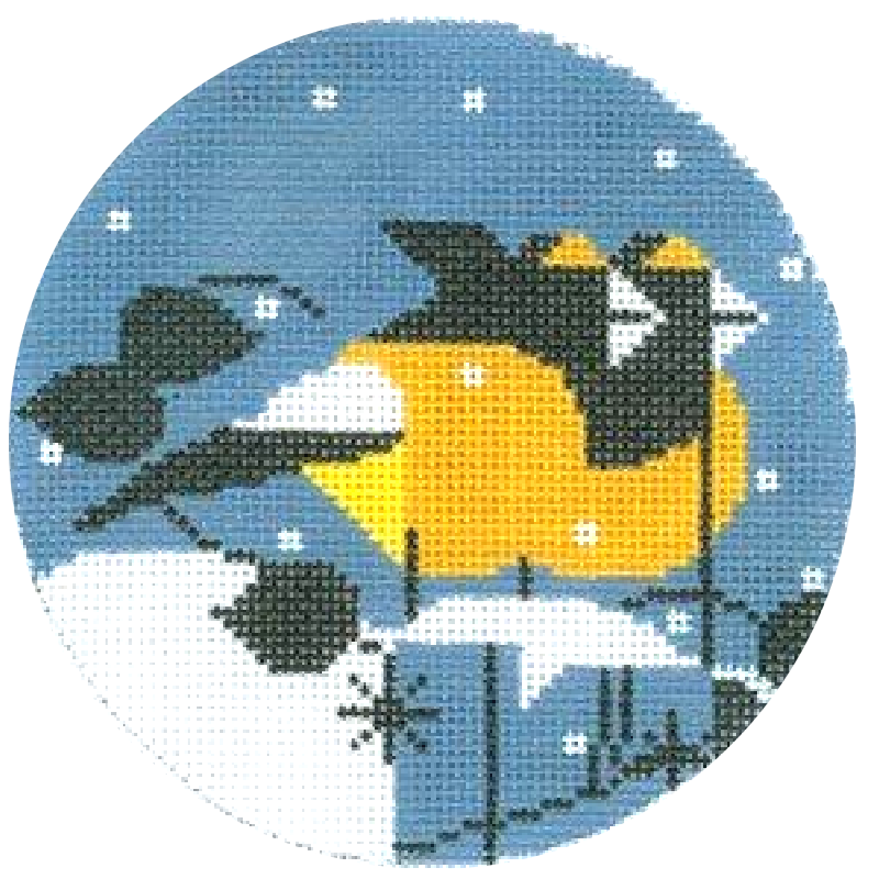 Charley Harper Goldfinch Needlepoint Ornament.